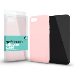 iPhone XS MAX Soft Touch Silicone Case púder pink Szilikon tok Soft-touch felülettel