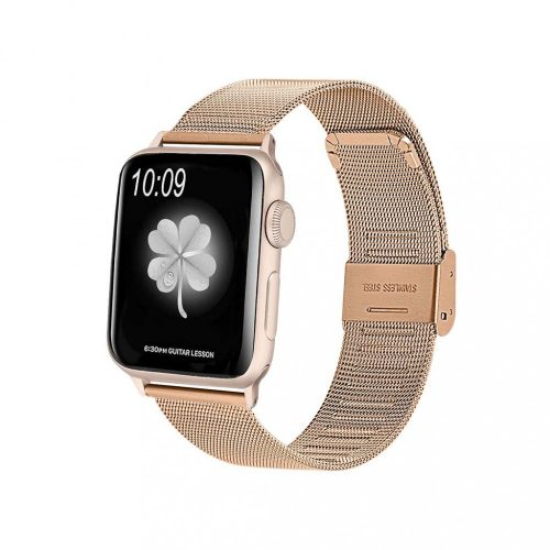 Apple Watch rozsdamentes acél szíj ROSEGOLD 38 / 40 mm
