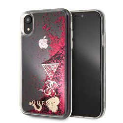 Guess raspberry glitteres folyós hátlap, tok iPhone XR