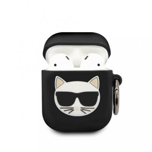 Karl Lagerfeld Choupette Apple Airpods tok FEKETE