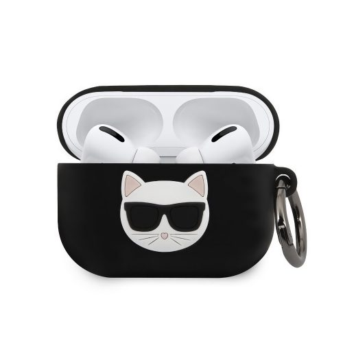 Karl Lagerfeld Choupette Apple Airpods Pro tok FEKETE