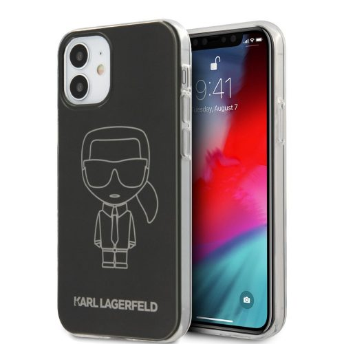 Karl Lagerfeld karl mintás tok, hátlap iPhone 12 mini