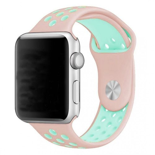 Apple Watch PINK / ZÖLD lélegző sport szíj 38 / 40 mm